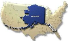 Ever wonder just how big Alaska really is? Well now you know.