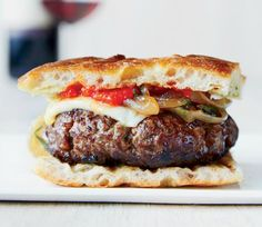 Chianti Burgers with Caramelized Onions Recipe | http://aol.it/1k8T2pk