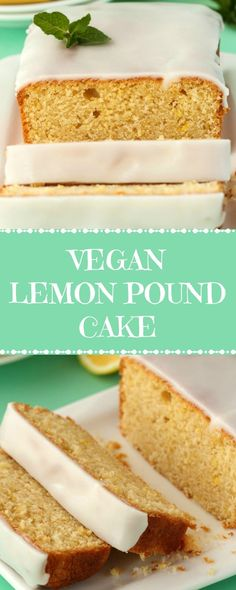 Wonderfully rich and moist vegan lemon pound cake topped with a lemon glaze. Deliciously lemony and tangy, and super easy and fun to make! | lovingitvegan.com