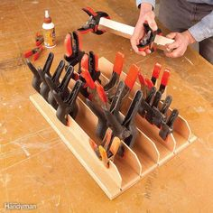 Spring Clamp Storage