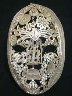 silver filigree mask