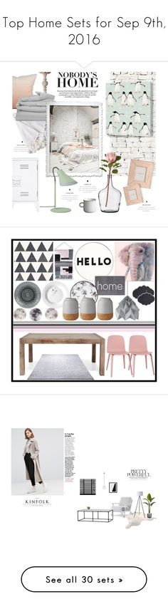 """""""Top Home Sets for Sep 9th, 2016"""" by polyvore ❤ liked on Polyvore featuring interior, interiors, interior design, home, home decor, interior decorating, Milton & King, Dot & Bo, Lene Bjerre and GANT"""