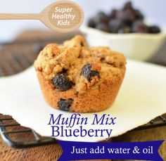 Homemade Mixes- Blueberry Muffins Make your own mixes! Recipe for a master blueberry mix- from Super Healthy Kids Healthy Treats For Kids, Super Healthy Kids, Fast Healthy Meals, Healthy Desserts, Snacks Kids, Healthy Recepies, Healthy Breakfasts, Healthy Tips, Healthy Foods