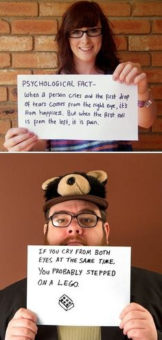 FACT: When a person cries a tear... (funny, today I learned, trivia, tears, lego)