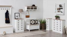 Cabinet din furnir Aster 6 White/Brown #livingroom #homedecor #homedesign Aster, Shelving, House Design, Cabinet, Living Room, Brown, Interior, Modern, Furniture
