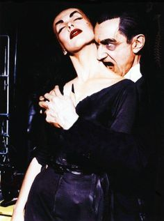 ✯ Vampira with Bela Lugosi on The Red Skelton Show in 1956✯