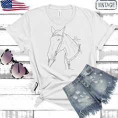 Horse Tee  ©| horse shirt| horse thirt| cute horse sirt| horse t shirt| horse shirt women| horse tee shirts| horse gift for women| by Bulwar on Etsy Anniversary Gifts For Parents, Horse Shirt, Horse Gifts, Cute Horses, Fishing Gifts, Tee Shirts, Tees, Gifts For Father, Wedding Engagement