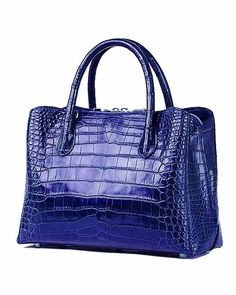 Classic Alligator Leather Tote Handbags Purses Shoulder Satchel Bags #leatherhandbagpurse #totehandbags