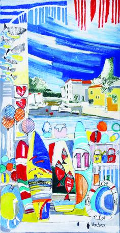 La carte de vœux 2015 de Gruissan est illustrée par le peintre Pierre Vacher
