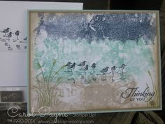 Stampin' Up!,Wetlands,painter's tape technique,Thoughts & Prayers