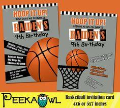 Items Similar To Basketball Invitations For Boys