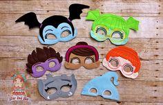 Vampirina Inspired Masks Vee Bridget Poppy Demi Gregoria Goblin Ghoul Birthday Party Idea