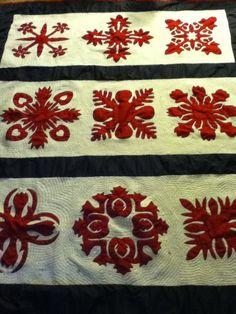 Hawaiian quilt applique