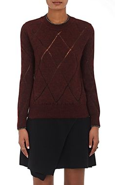 We Adore: The Iggy Open-Work Diamond-Pattern Sweater from Isabel Marant at Barneys New York