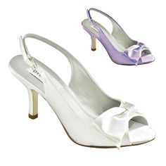 "FAYE WHITE SATIN 2 1/2"" HEEL in Dyeable Shoes - DyeableShoeStore.com"