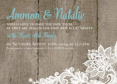 The Invitation Maker offers high quality, custom wedding invitations with a unique 1-on-1 experience that can be done entirely online. Check more rustic designs at theinvitationmaker.com