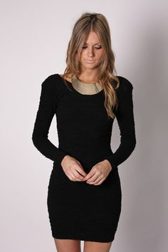 Simple long sleeve little black dress. Need this to add to my ...