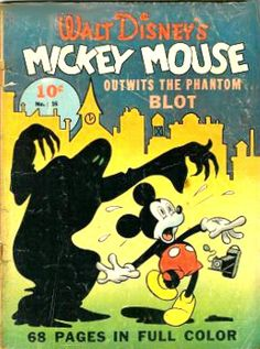"""comicbookcovers: """" Walt Disney's Mickey Mouse cover by Floyd Gottfredson """" Cartoon Posters, Retro Cartoons, Disney Posters, Old Cartoons, Classic Cartoons, Cartoon Characters, Disney Epic Mickey, Walt Disney, Disney Art"""