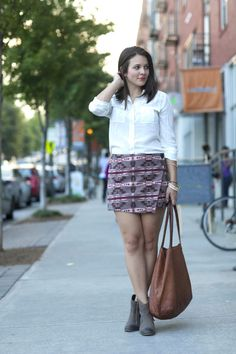 2013 BB Dakota Skirt | J. Crew Silk Blouse| Hand In Pocket Bangles | Matisse Boots