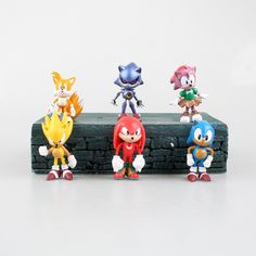 Sonic Figures 6 Pcs Cute Figures 7cm Anime Game Figures Pvc Hot Toys Japanese Toys Hobbies Collection Models