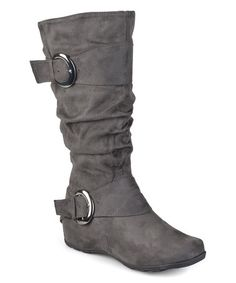 02f01720ef36 Look what I found on  zulily! Gray Jester Slouchy Extra Wide-Calf Boot