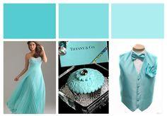 Tiffany Blue Wedding Inspiration Colour Board by Designcat Aqua Wedding, Tiffany Wedding, Gray Weddings, Wedding Colors, Dream Wedding, Wedding Stuff, Tiffany Blue Bridesmaid Dresses, Bon Look, Pallet Wedding