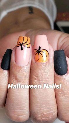 Simple Fall Nails, Fall Gel Nails, Cute Nails For Fall, Simple Acrylic Nails, Fall Acrylic Nails, Nails For Autumn, Fall Nail Ideas Gel, Fall Nail Art Autumn, Fall Almond Nails