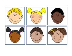 School+Children+Faces+Happy.+Bulletin+Board+Idea.+30+Different+Faces.+5+Pages