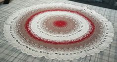 Made from 3 strands of nylon blend luxury carpet yarn. No pattern, just came to me. Circular Rugs, Strands, Beach Mat, Outdoor Blanket, Carpet, Wool, Luxury, Crochet, Pattern