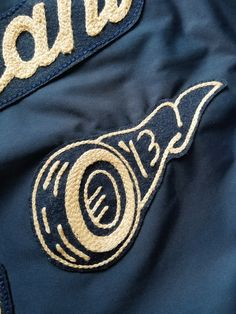 Oxford Pennant x Stitchrite - Custom Chain Stitched Embroidered Jacket Textiles Techniques, Embroidery Techniques, Hand Embroidery Designs, Folk Embroidery, Indian Embroidery, Army Clothes, Chain Stitch Embroidery, Handbags Online Shopping, Bowling Shirts
