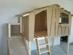 Lit toboggan pour enfant – Cabane en bois sur mesure – Clair de Lune (Nord)