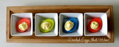 Deviled Eggs that are Beautifully Dyed - Influential Mom Blogger, Mom Blog Brand Ambassador, PR Friendly
