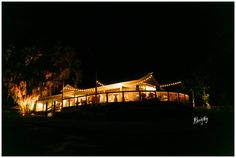 Up The Creek Farms at night | Barn/Boathouse | wedding venue | Florida | Southern Soiree' | Orlando Photographer