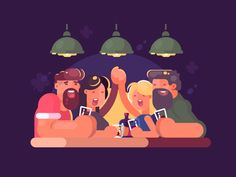 Buy Friends Relaxing at Bar by on GraphicRiver. Friends man and woman relaxing in evening at bar. Flat Illustration, Character Illustration, Digital Illustration, Friend Cartoon, Cartoon People, Design Art, Flat Design, Design Ideas, Graphic Design