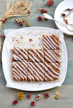 Anja's Food 4 Thought: Vegan Pumpkin Orange Spice Squares (Gluten and dairy free)