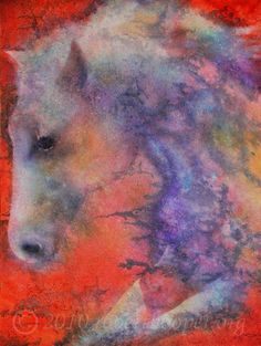 8x10 Watercolor Print WIND HORSE by rwhooper on Etsy, $3.50