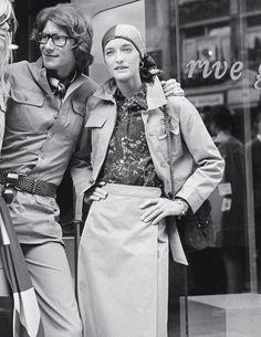 YSL and Loulou de la Falaise