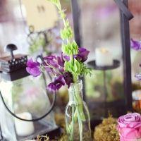 Purple and Green Wedding decor