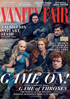 Parte del elenco de Game of Thrones posa para Annie Leibovitz en la portada de la revista Vanity Fair.