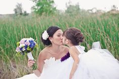 The Resort at Red Hawk | Rich   Seonga - CUTE flower girl and Bride pose