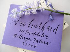 Modern accents calligraphy envelope | by perch paper company, on Etsy