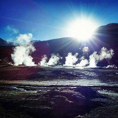 Looking magical: the #TatioGeysers #Atacama #Chile via @youngmike86