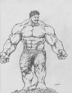 Incredible Hulk by lorkalt on DeviantArt Comic Book Characters, Comic Books Art, Comic Art, Drawing Superheroes, Marvel Drawings, Marvel Fan Art, Hulk Marvel, Hulk Hulk, Arte Do Hulk