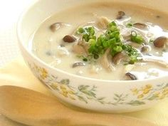 たっぷりきのこのしょうが豆乳スープ