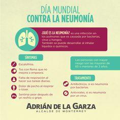 Día mundial contra la neumonía. Información importante. Comparte!