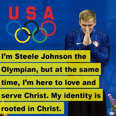 "Olympic athlete Steele Johnson is taking a bold stand for Christ in Rio. ""This is exciting, but it's not what my identity is going to be the rest of my life... my identity is rooted in Christ."""