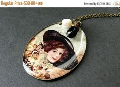 BACK to SCHOOL SALE Victorian Lady Charm Necklace with Wire Wrapped Black Teardrop and Pearl. Handmade Jewelry. by StumblingOnSainthood from Stumbling On Sainthood. Find it now at http://ift.tt/2wcnLgB!