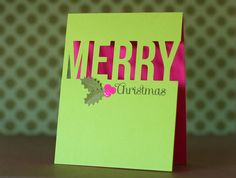 Neon Merry Christmas pink and green silhouette cameo by Kelly Griglione, via Flickr