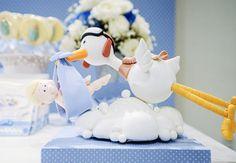 Baby Shower: Stork Chá de Bebê: Cegonha