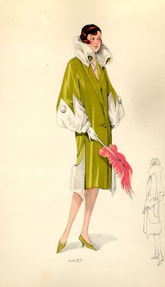 Fashion plates from the 1920s. #447